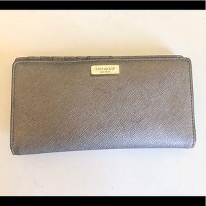 Dark Silver Grey Kate Spade wallet